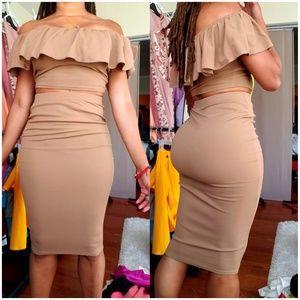 Brand New Boohoo skirt set SZ S